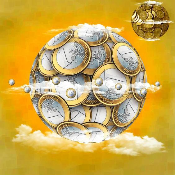 euro kugel himmel gold u3 564