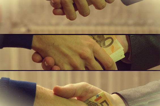 hand geld drei g 564