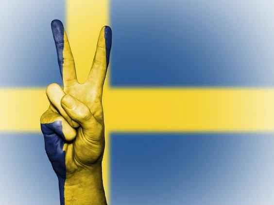 schweden flagge finger tg 564