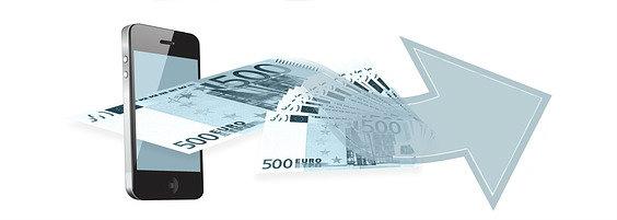 smartphone geld pfeil 88 564