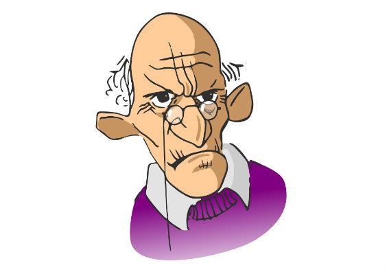 alter mann karikatur 564