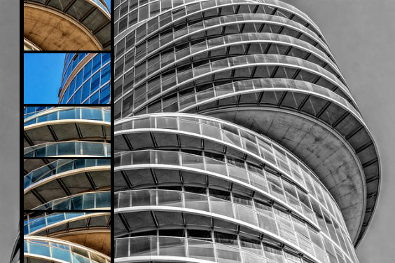 architektur rund glas versetzt 564
