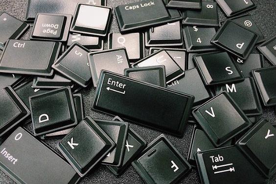 buchstaben tastatur schwarz 1q 564