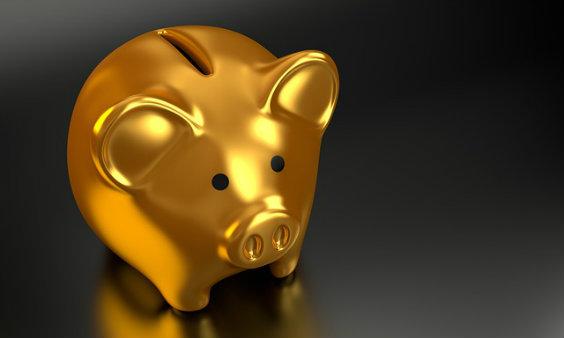 gold sparschwein 7s 564