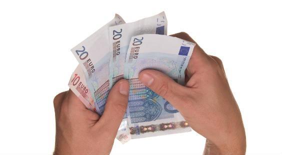 hand geldscheine 564