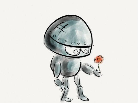 roboter blume 3 564