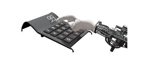 roboter hand taschenrechner 5 564