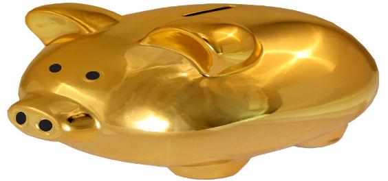 sparschwein gold 564