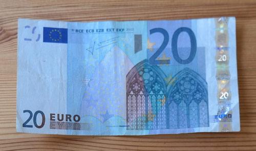 20 euro geldschein 500