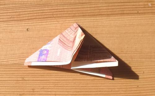 geld falten frosch 10