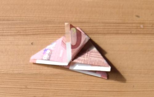 geld falten frosch 11