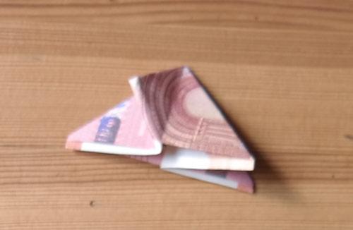geld falten frosch 13