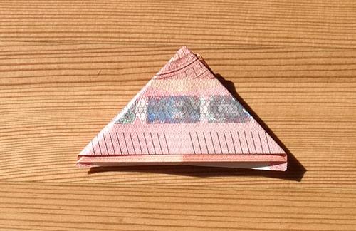 geld falten frosch 18