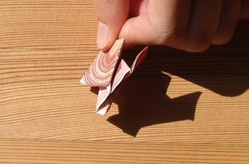geld falten frosch 25