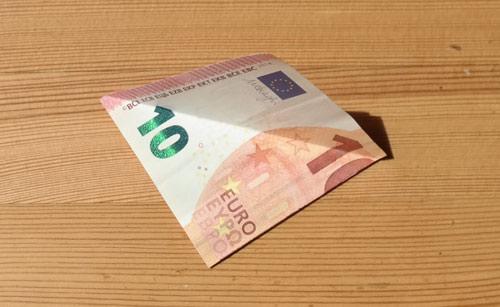 geld falten frosch 4