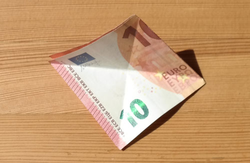 geld falten frosch 6