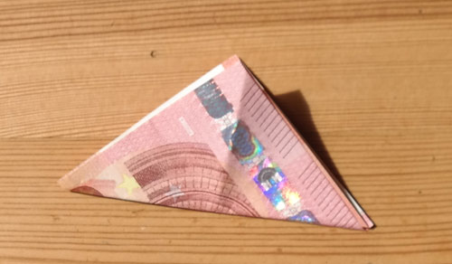 geld falten frosch 7