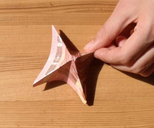 geld falten frosch 8