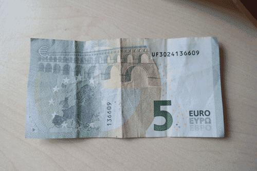 Egal, ob 5 Euro, 10 Euro 20€ oder 50 Euro